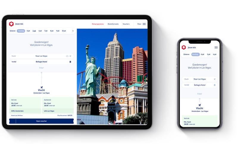 Progressive Web App Doets Reizen mijn omgeving voor klanten