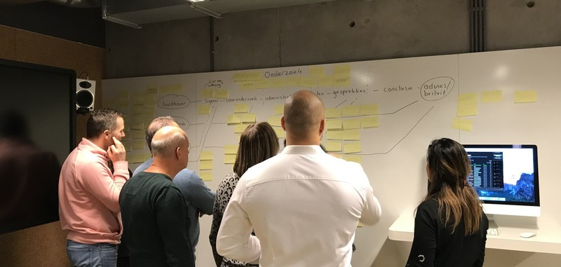 Design Sprint ruimte GBI - behoeften in kaart dag 1 - Moose Agency