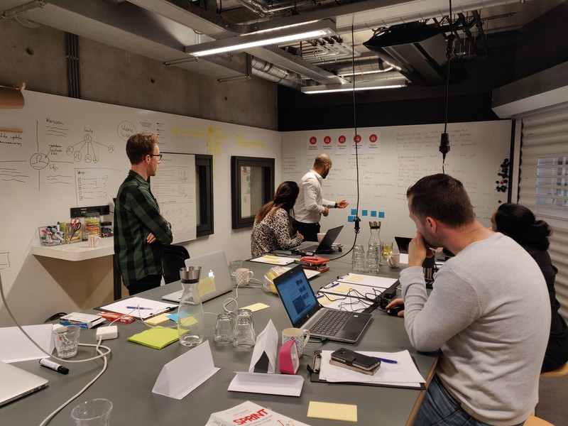 Design Sprint ruimte GBI - dag 1 - Moose Agency